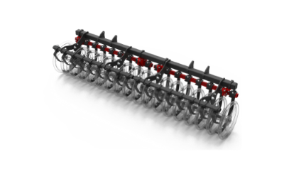 New stubble cultivator Chisel Impack roller with scrapers and stone guard soil and field preparation