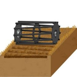 Cover ploughing back Tube roller agricultural machinery