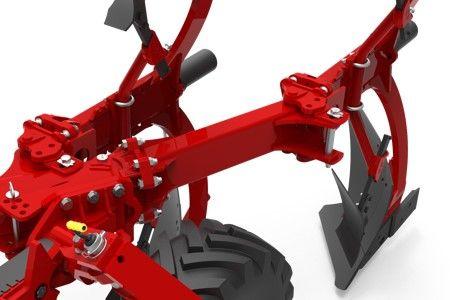 Reversible plough add and remove body soil preparation