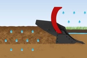 new Plough semi mounted Water flow Gregoire Besson