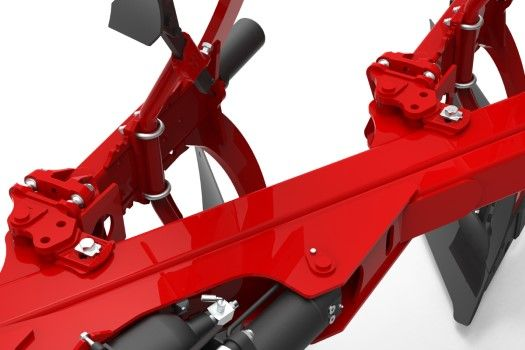 semi mounted plough Multi-positions agricultural machinery