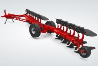 reversible semi mounted plough soil preparation tool positionning