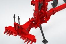 semi mounted plough soil preparation tool articulated headstock
